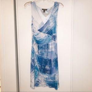 Tommy Bahama Women's Blue White Sleeveless Dress M